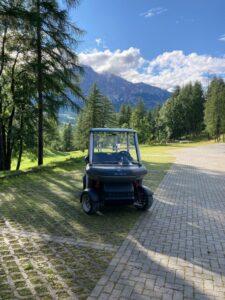 Golf Cortina - Alba Mobility cart - metal grey