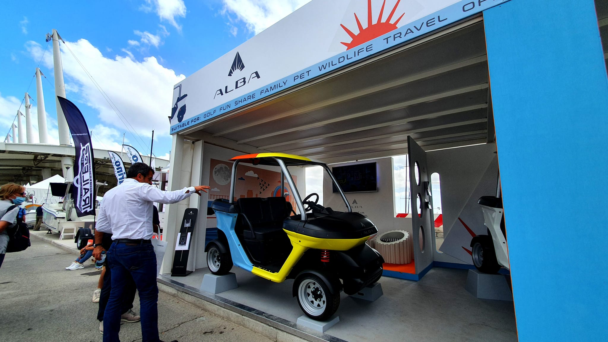 Stand Alba Mobility al Salone Nautico Genova