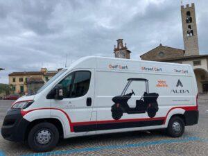 Furgone Alba Mobility all'Ugolino Golf Club