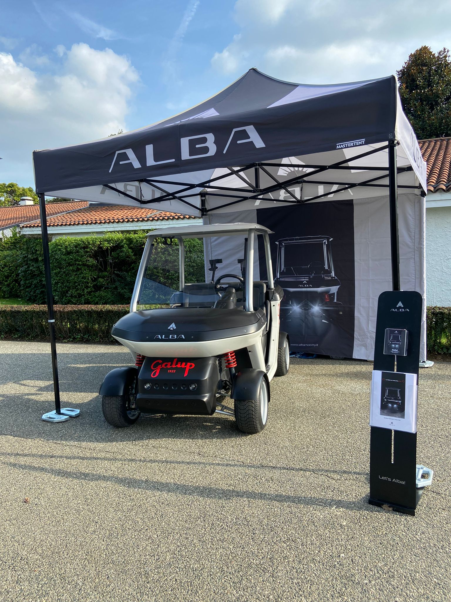 Alba Cart - wrapping Galup - stand Alba Mobility